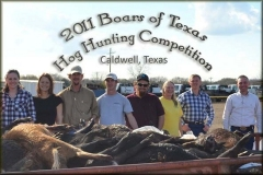 Boars of Texas 2011 Hog Hunting Competition Photos